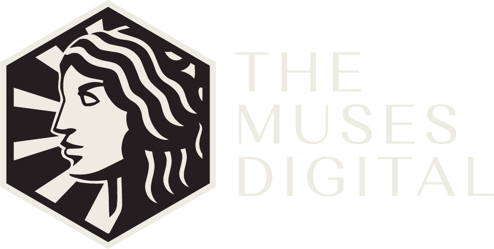 The Muses Digital Logo White